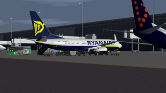 737-800 Parked at gate (EBBR)