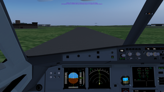 XX in a 707 (Landing at EGBB)
